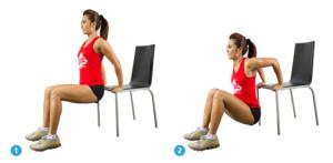 dips sur chaise pour maigrir chez soi