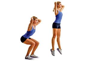 squat sauté sport à la maison